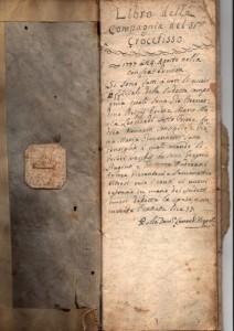 Libro della compagnia dello Santissimo Crocefisso 1777